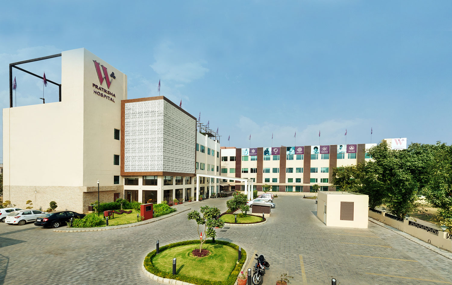 Home 1 – W Pratiksha Hospital Outside Facade