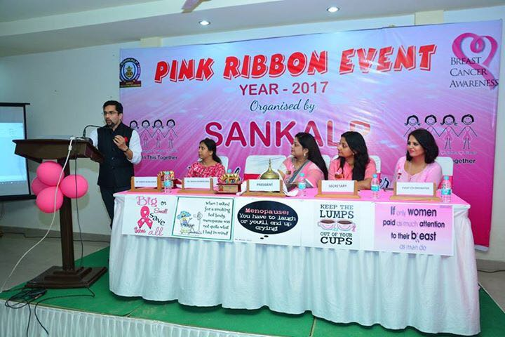 Breast cancer awareness at pink ribbon event